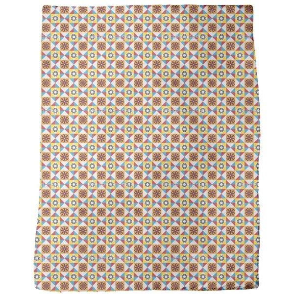Portuguese Tiles Fleece Blanket