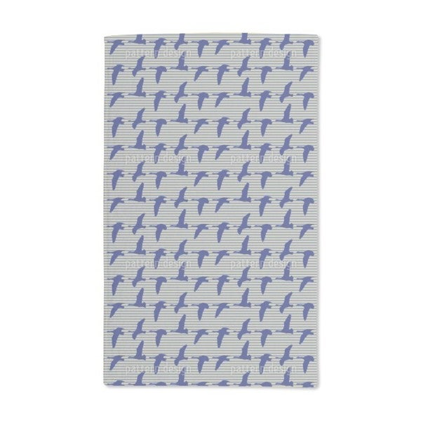 Goose Blue Hand Towel (Set of 2)