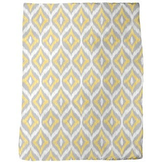 Animal Ikat Fleece Blanket