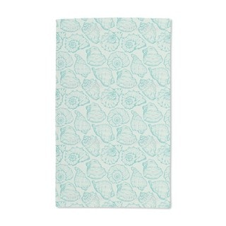 Shellfish Aqua Hand Towel (Set of 2)