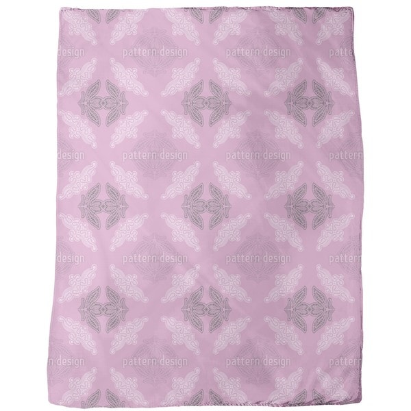 Lacy Ida Violet Fleece Blanket