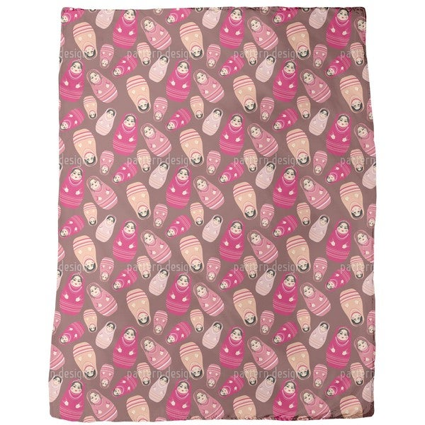 Babushka Rock Fleece Blanket