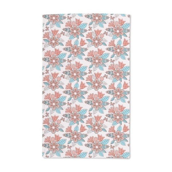 Late Summer Flowers Hand Towel (Set of 2)