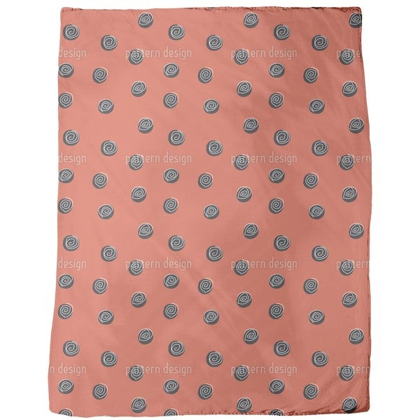 Squiggles on Dots Fleece Blanket