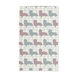 Dachshund Check Mate Hand Towel (Set of 2)