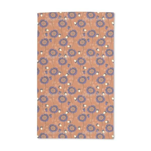Boehme Fantasy Flowers Maroon Hand Towel (Set of 2)