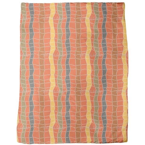 Aborigine Checks Fleece Blanket