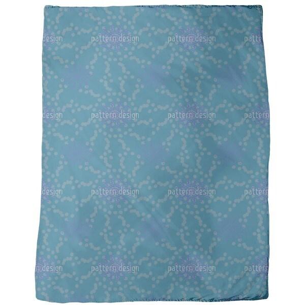Dotted Flowers Fleece Blanket