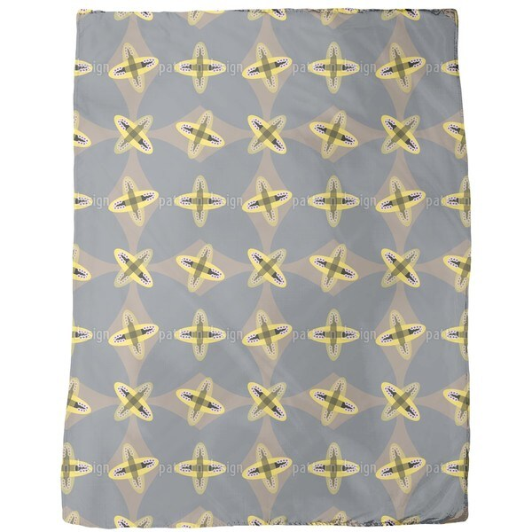 Crossed Ovals Fleece Blanket