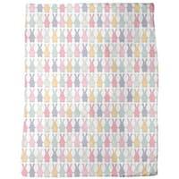 Funny Lucky Bunny Fleece Blanket