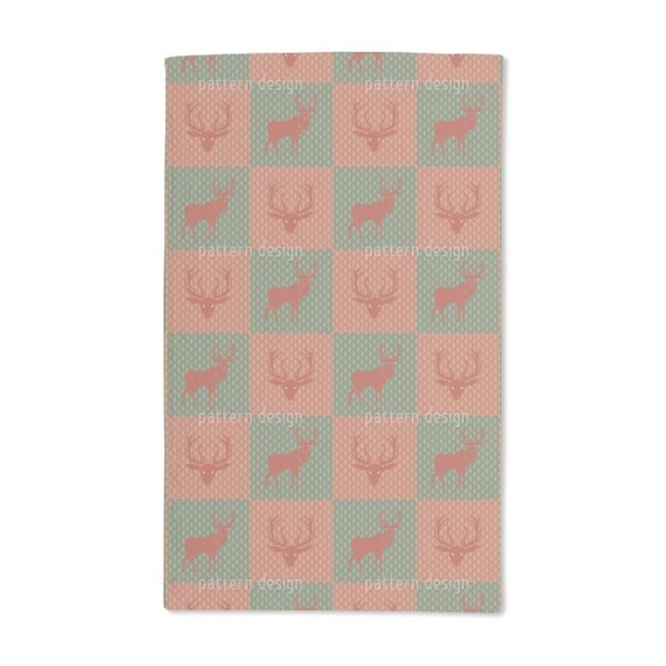 The Forest King Red Green Hand Towel (Set of 2)