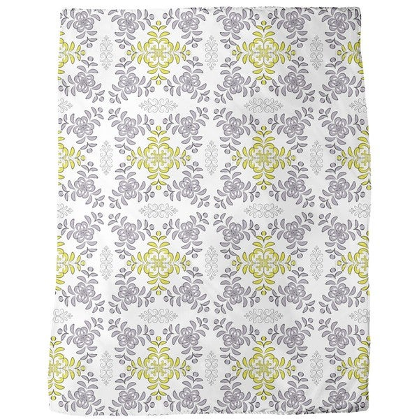 Floral Geometry Fleece Blanket