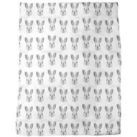 Bunny Most Wanted Fleece Blanket