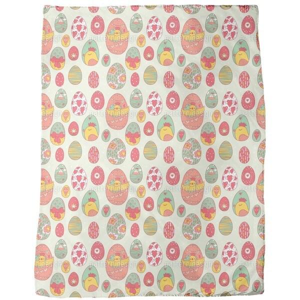 Easter Egg Station Fleece Blanket
