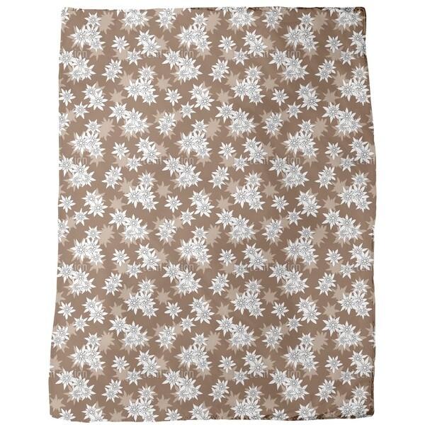 Edelweiss Brown Fleece Blanket