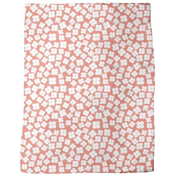 Cherry Blossom Sea Fleece Blanket