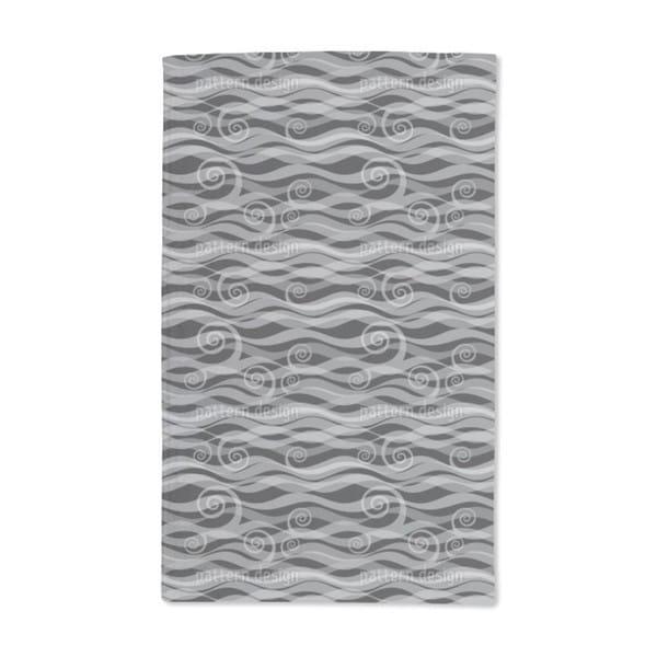 Triton Black Hand Towel (Set of 2)