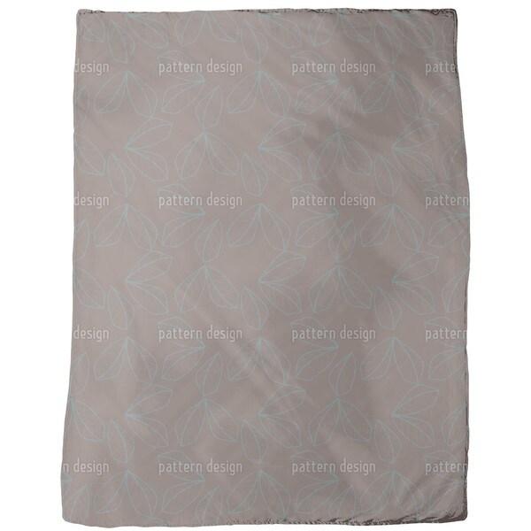 Leaf Lines Fleece Blanket