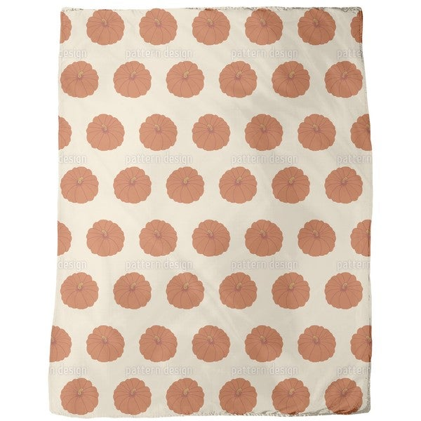 Decorative Gourd Orange Fleece Blanket