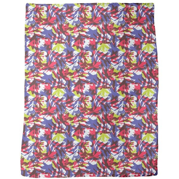Tropical Thicket Fleece Blanket
