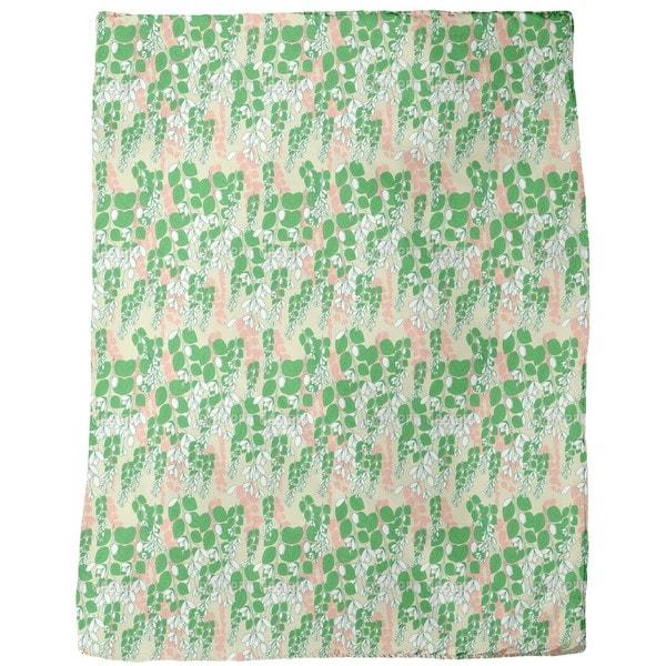 Bouganvillea Beige Fleece Blanket