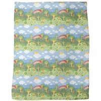 Rainbow Wonderland Fleece Blanket
