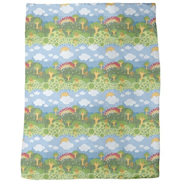 Rainbow Wonderland Fleece Blanket