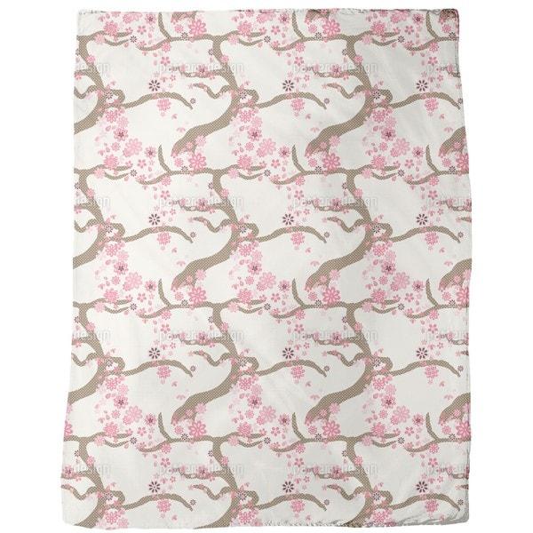 Sakura Fleece Blanket