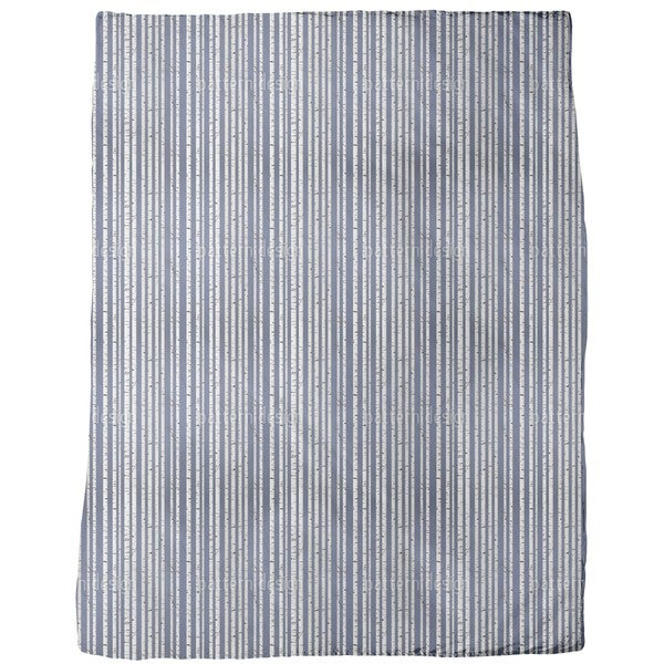 Olgas Birch Forest Stripes Fleece Blanket
