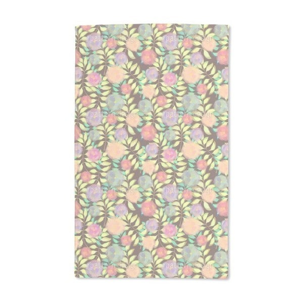 Soft Flowers on Branches Hand Towel (Set of 2)