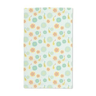 Fishes and Waterlilies Pattern Hand Towel (Set of 2)