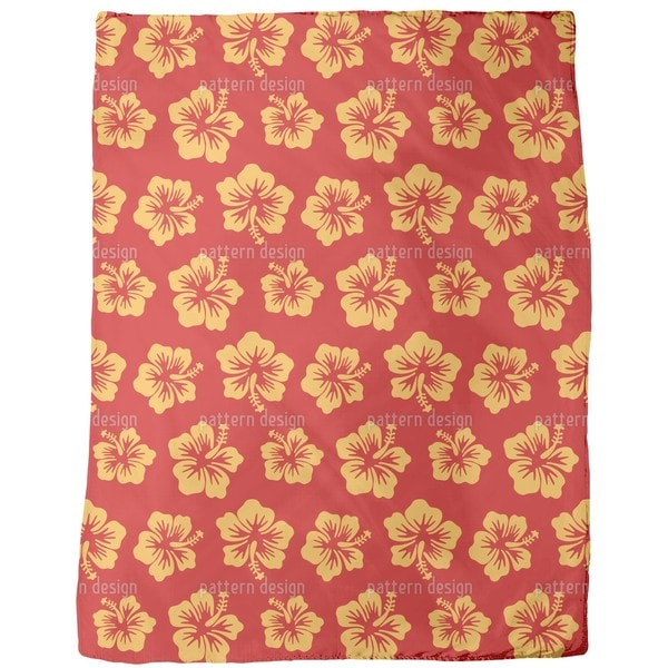 Hibiscus Greetings From Hawaii Fleece Blanket