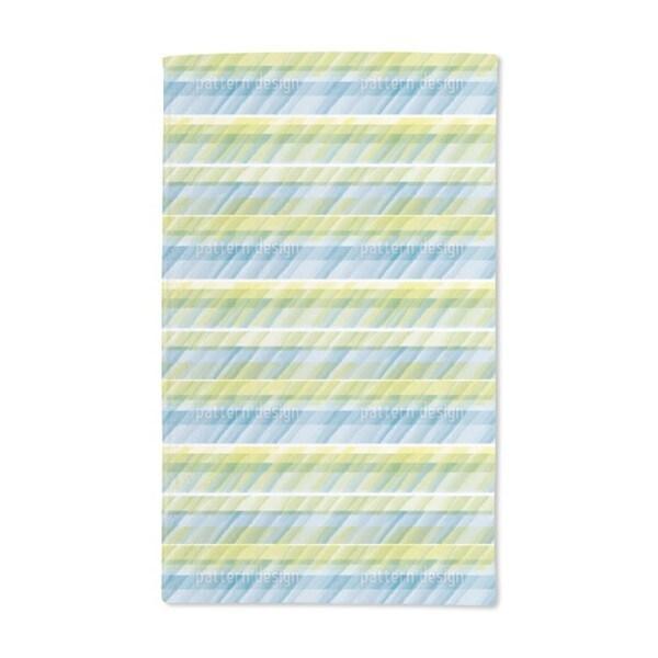 Aqua Stripes Hand Towel (Set of 2)