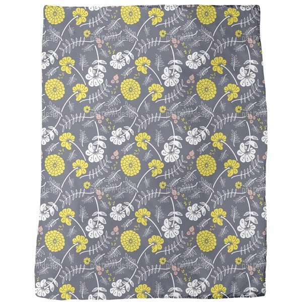 Shiny Blossom Wind Fleece Blanket