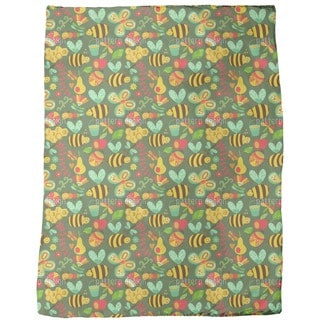 Busy Honey Bees in the Woods Fleece Blanket