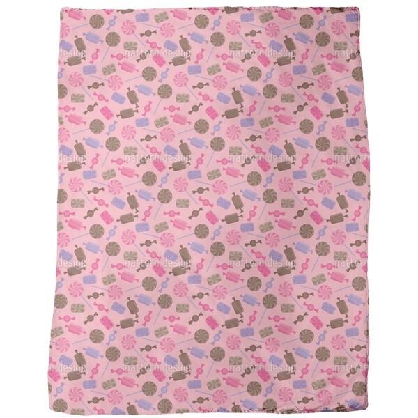 Candy Strawberry Fleece Blanket