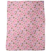 Candy Strawberry Fleece Blanket