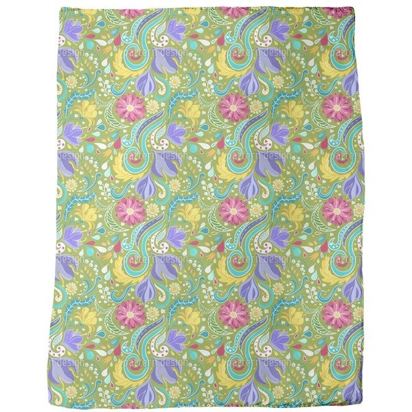 Fantasy Flora Fleece Blanket