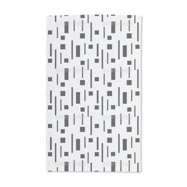 Retro in Black and Grey Hand Towel (Set of 2)