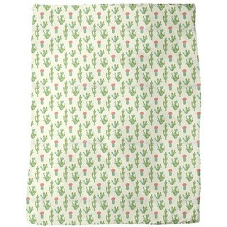 Desert Cactus Fleece Blanket