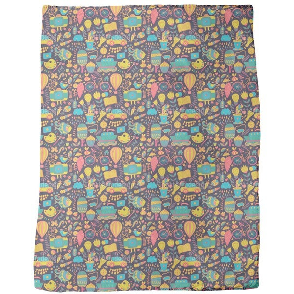 Funny Leisure Time at Night Fleece Blanket