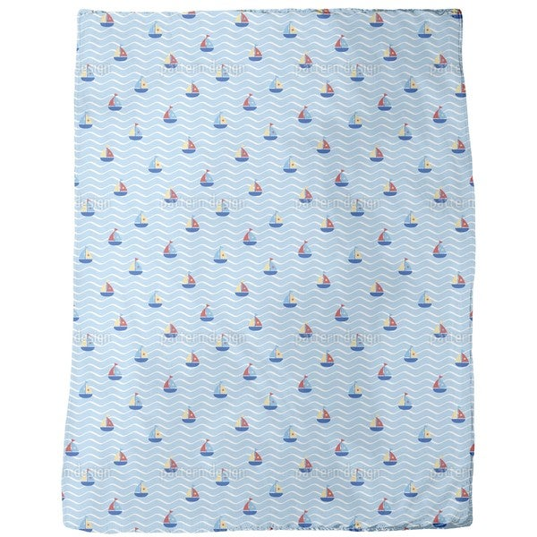 Tiny Sails Fleece Blanket