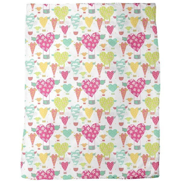 Take the Heart Balloon Fleece Blanket
