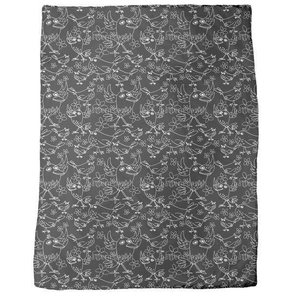 Songbird Sing Fleece Blanket