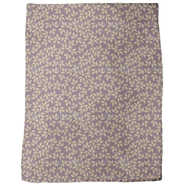 Golden Leaf Winter Fleece Blanket