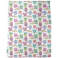 The Big Owl Assembly Fleece Blanket