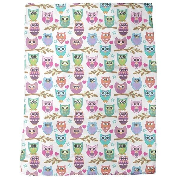 The Big Owl Assembly Fleece Blanket