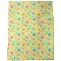 Colorful Birdsong Fleece Blanket