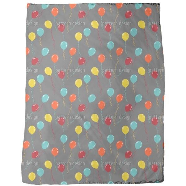 Party Balloons Fleece Blanket