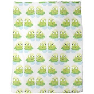 Twin Frogs Fleece Blanket